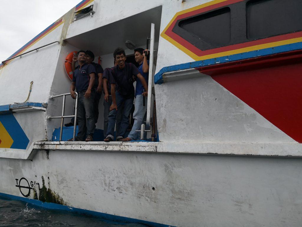 リペ島 到着時 船の乗り換えの様子