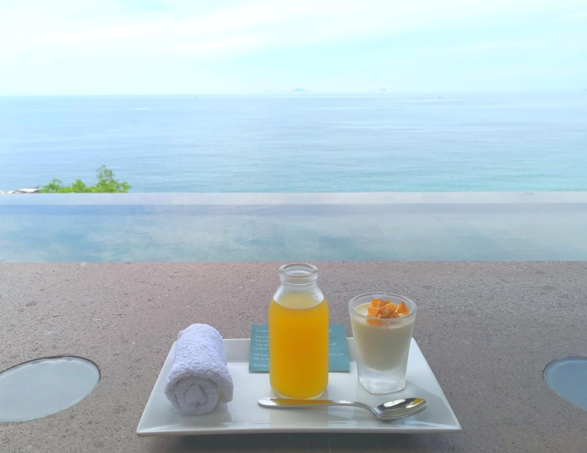 Mia Resort Nha Trang ウェルカムドリンク