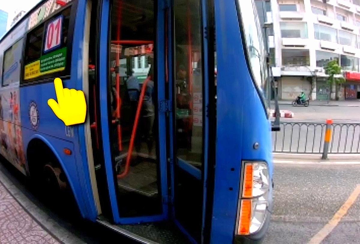 バス乗車時