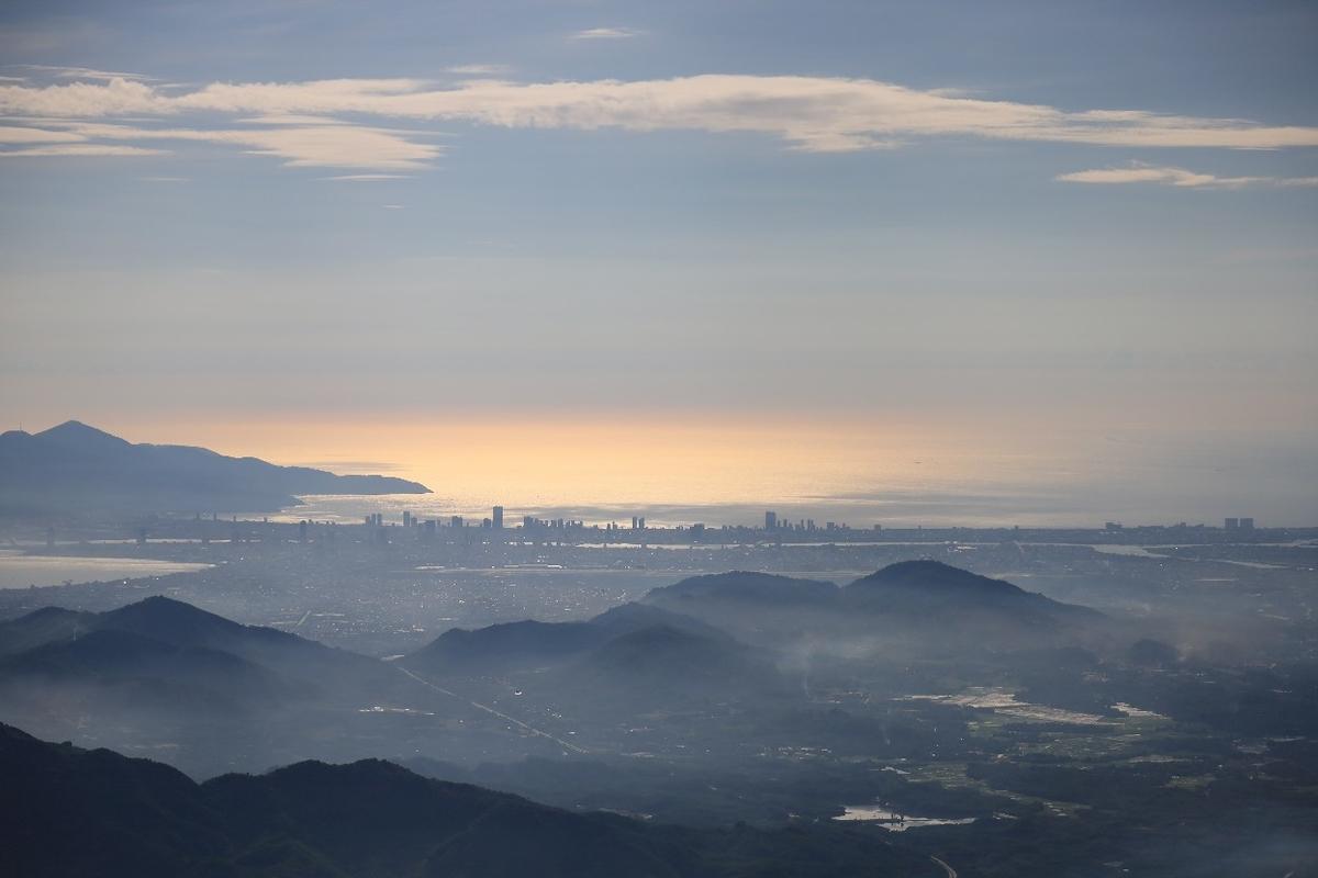 サンワールドのゴールデンブリッジから見える風景