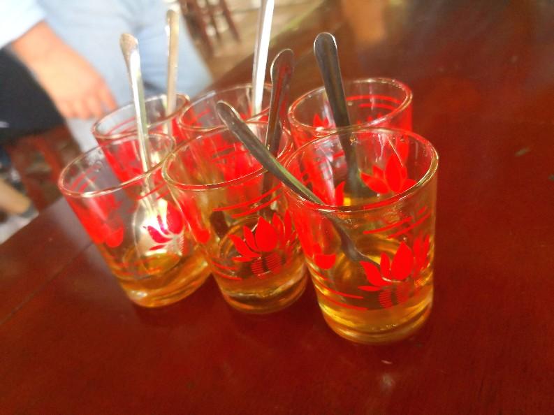 メコンデルタツアー 蜂蜜の試飲