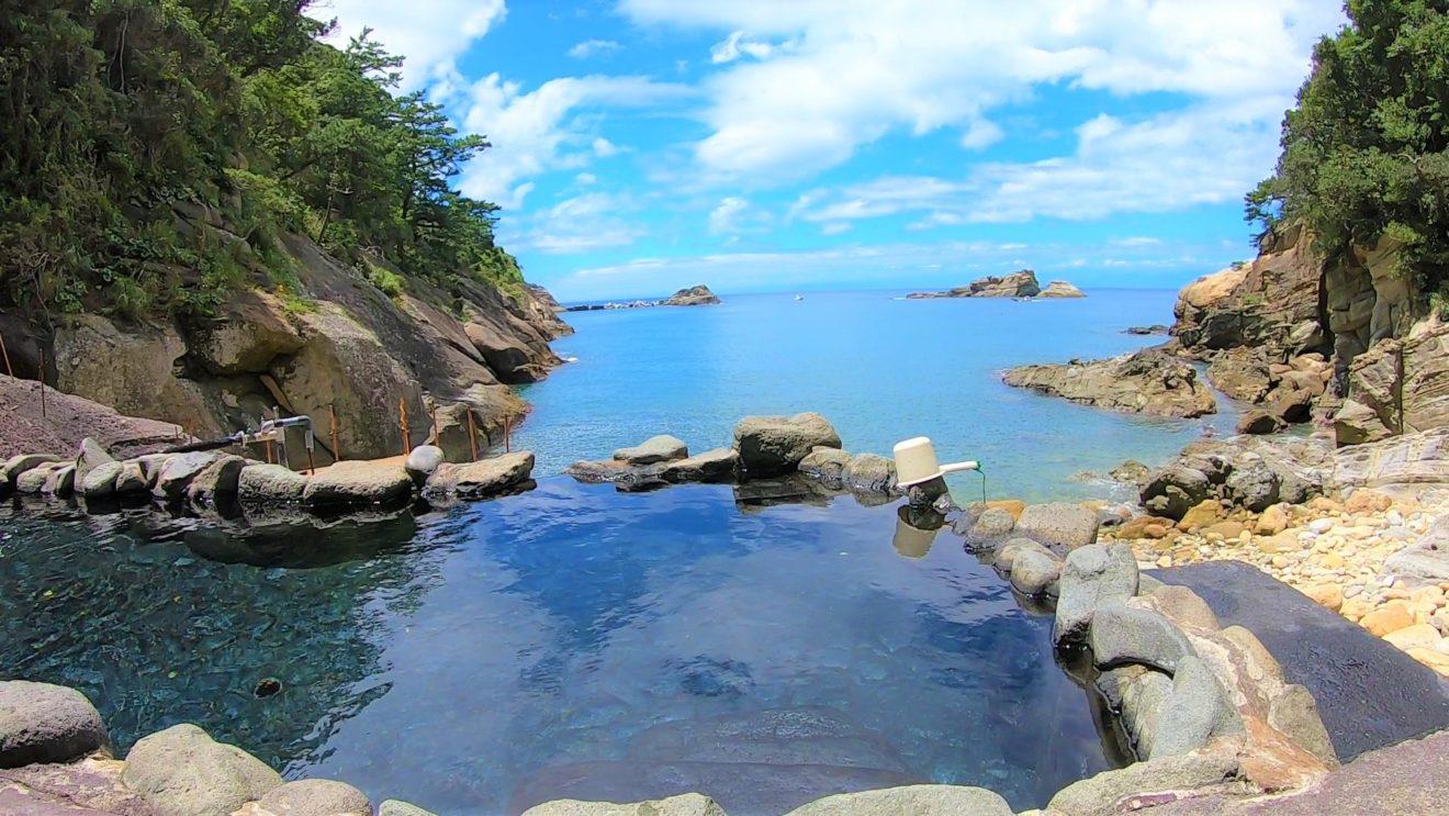 赤井浜露天風呂 ビーチ