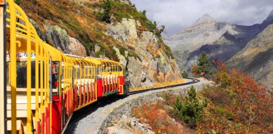 Train d'Artouste 乗車中の様子