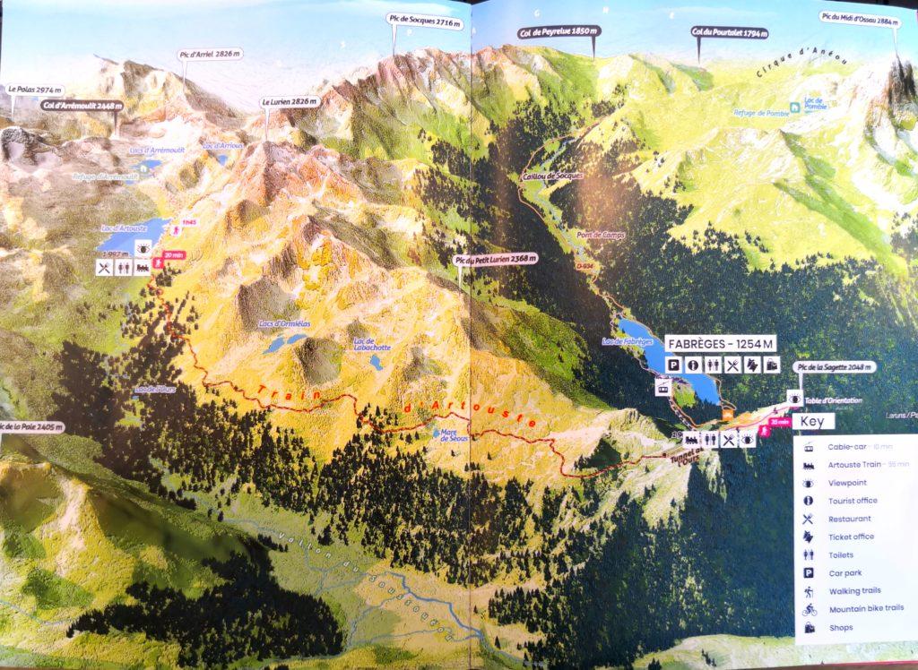 Train d'Artouste 全体地図