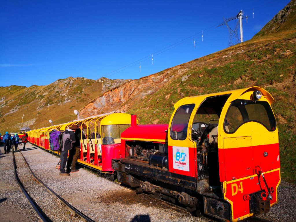 Train d'Artouste 出発駅の様子