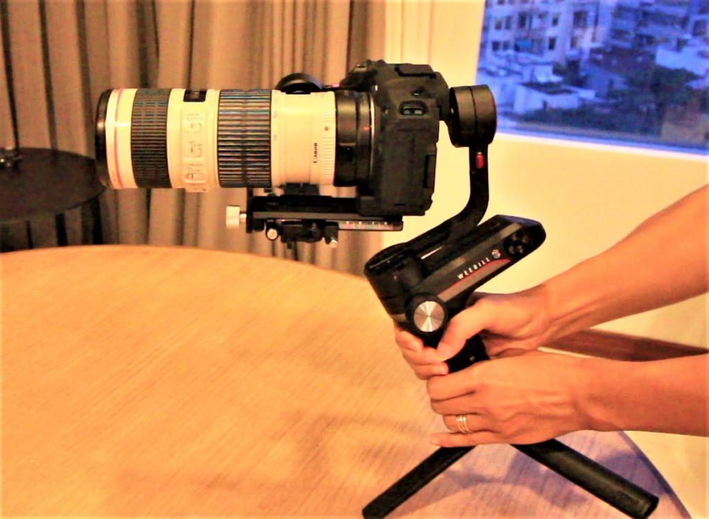 EOSRP+マウントアダプタ+EF70-200mm F4L