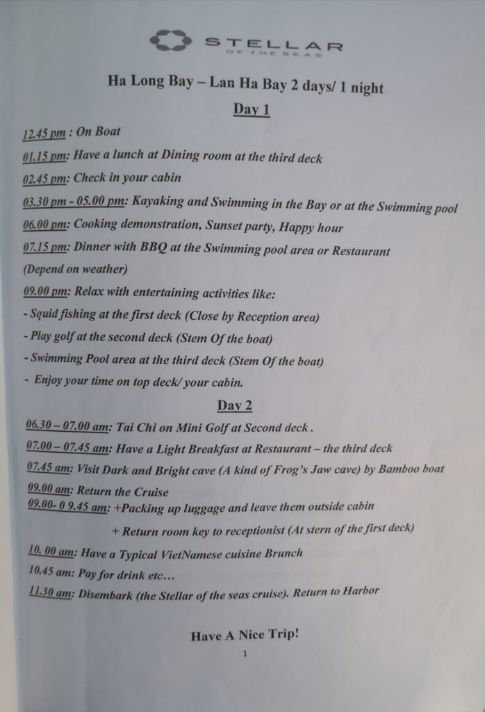 sltellar of the seas schedule